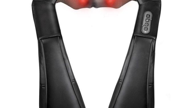 Sable Nackenmassagegerät mit Akku - kabelloses Shiatsu Massagegerät